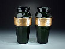 Hampel Paar Moser-Vasen