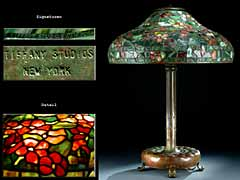 Hampel Grosse Tiffany-Tischlampe