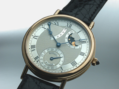 Hampel  Breguet<br />Herrenarmbanduhr der Classique-Collection<br />Modell �Power Reserve�Ref. Nr. 3130 BA ca. 1992