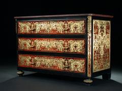Hampel  Feine Louis XIV-Boulle-Kommode