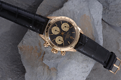 Hampel ROLEX  OYSTER SUPERLATIVE CHRONOMETER DAYTONA  OFFICIALLY CERTIFIED, CRONOGRAPH  HERRENARMBANDUHR  18 KT GELBGOLD REFERENZ 6265