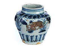 Detailabbildung: Chinesische Porzellanvase