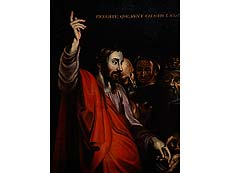 Detailabbildung: Süditalienischer Maler der ersten Hälfte des 17. Jahrhunderts, im Stil von Michelangelo Merisi Caravaggio (1570-1610)
