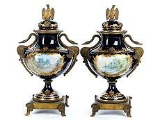 Detail images: Paar Sèvres-Ziervasen