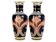 Detail images: Paar Chinoiserie-Porzellanvasen