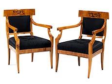 Detail images: Sitzgarnitur mit Tisch, Stühlen und Armlehnstühlen