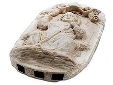 Detailabbildung: Domenico Gargini, 1492 Palermo, Der Heilige Zenobius von Florenz, Umkreis des