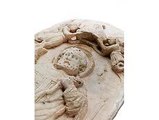 Detail images: Domenico Gargini, 1492 Palermo, Der Heilige Zenobius von Florenz, Umkreis des