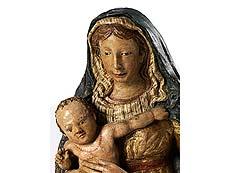 Detail images: Florentinische Terrakottafigur Maria mit dem Kind