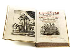 Detailabbildung: Sancti Hieronymi Stridoniensis Opera Omnia in vier Büchern