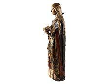 Detail images: Große Schnitzfigur einer weiblichen Heiligen