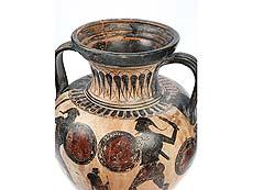 Detail images: Griechische Amphorenvase