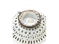 Detail images: Majolika-Crespina in Form eins Korbes Bianco di Faenza