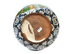 Detail images: Majolika-Doppelhenkelkrug mit Monogramm ADSIOZ