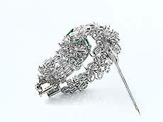 Detail images: Smaragd-Diamantbrosche