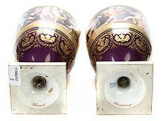 Detail images: Paar Wiener Vasen Allegorie der Vier Jahreszeiten
