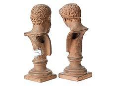 Detail images: Zwei Terracottabüsten