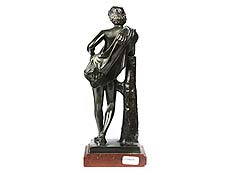 Detail images: Bronzestatuette Jüngling
