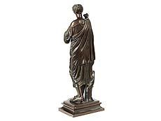 Detail images: Bronzeskulptur Junge Frau in antikem Gewand