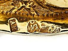 Detail images: Moskauer Vermeil-Deckelpokal