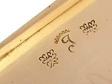 Detail images: Golddose mit Diamanten und Perlchen