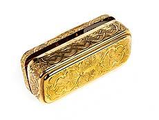 Detail images: Golddose mit Vesuv