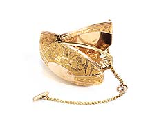 Detail images: Französische goldene Riechdose