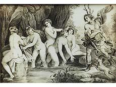 Detail images: Grisaille-Gemälde auf Elfenbein