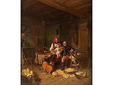 Detailabbildung: C. Hösch, Deutscher Maler des 19. Jahrhunderts