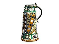 Detail images: Musealer Nürnberger Prunk-Krug aus der Werkstatt des Paul Preuning