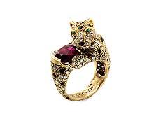 Detailabbildung: Panthère-Rubin-Diamantring von Cartier