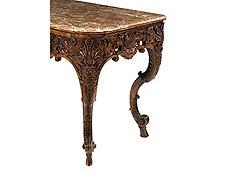 Detail images: Prächtiges Régence-Table à gibier