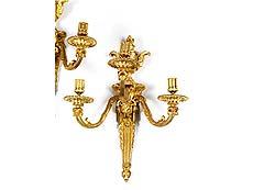 Detail images: Paar Louis XV-Wandappliken