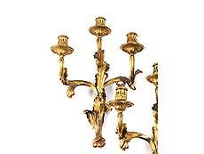 Detailabbildung: Paar feine Bronzeappliken
