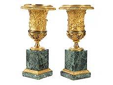 Detail images: Paar französische Kaminziervasen