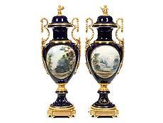 Detail images: Paar große dekorative Vasen