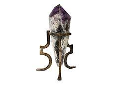 Detail images: Sehr großer Amethyst auf Eisenstand