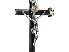 Detail images: Silbernes Altarkreuz