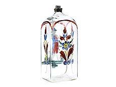 Detail images: Vierkantflasche mit Emailmalerei