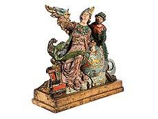 Detail images: Schnitzfigurengruppe: Allegorie der Astronomie
