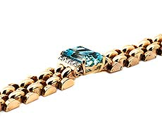Detailabbildung: Aquamarin-Diamantarmband