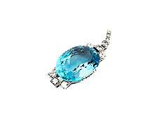 Detail images: Aquamarin-Diamantanhänger