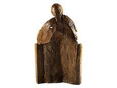 Detail images: Große Schnitzfigurengruppe einer thronenden Maria mit dem Jesuskind