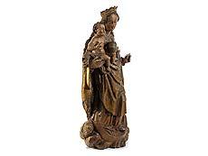 Detail images: Süddeutsche Mondsichel-Madonna des ausgehenden 17. Jahrhunderts