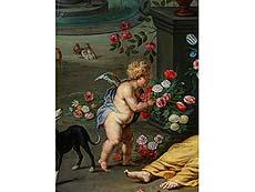 Detail images: Jan Brueghel d. J., 1601 – 1678 in Zusammenarbeit mit Frans Wouters, 1612/14 – 1659
