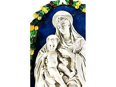 Detail images: Della Robbia-Madonna