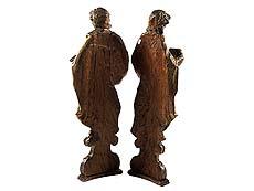 Detail images: Paar Heiligenfiguren