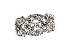 Detail images: Art déco-Diamantbrosche