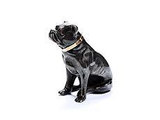 Detail images: Silberfigur einer Bulldogge