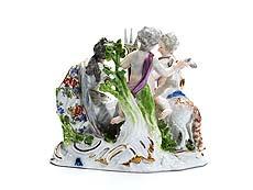 Detail images: Meissener Figurengruppe